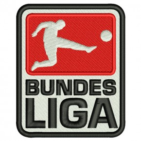 SOCCER FAN EMBROIDERED PATCH BUNDES LIGA 2.5x3.15inches
