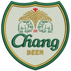RACING FAN BIER AUFNÄHER PATCH CHANG BEER 8,8x9cm
