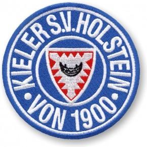 Holstein Kiel AUFNÄHER Fußball FUSSBALL PATCH D=8cm