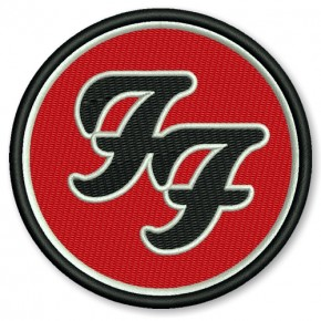 EMBROIDERED PATCH Foo Fighters D=8cm (D=3.15 inch)