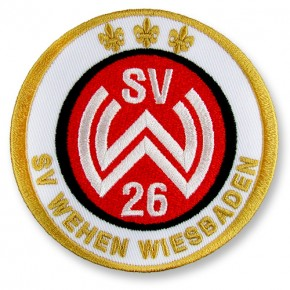 SV Wehen Wiesbaden AUFNÄHER Fußball FUSSBALL PATCH D=8cm