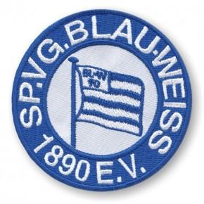 SV Blau Weiss Berlin AUFNÄHER Fussball PATCH Fußball D=8cm