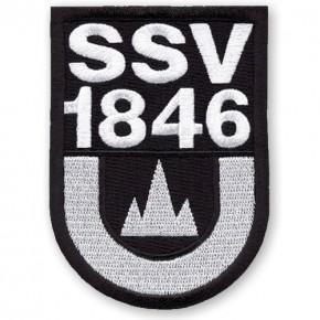 SSV Ulm 1846 AUFNÄHER Fussball PATCH Fußball 100% gestickt 6x8cm