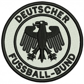 Fußball FUSSBALL FAN AUFNÄHER DFB D=8cm