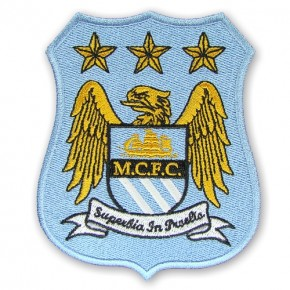 Manchester City Aufnäher Fußball Patch Premier League 8,5x10cm