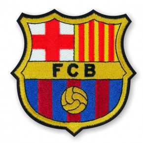 FC Barcelona Aufnäher Fußball Patch 8x8cm