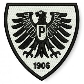 Preußen Münster AUFNÄHER Fußball FUSSBALL PATCH 7,6x8cm