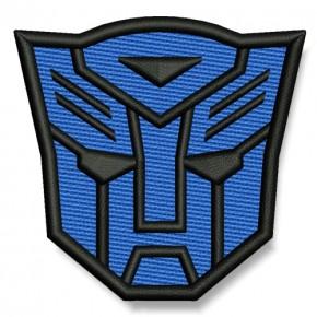 Transformer AUFNÄHER blau/schwarz PATCH Science-Fiction Superheld Hero 7x6,5cm