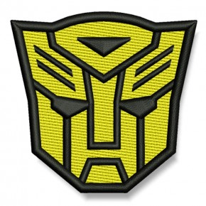 Transformer AUFNÄHER gelb/schwarz PATCH Science-Fiction Superheld Hero 7x6,5cm