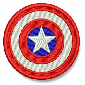 Captain America AUFNÄHER PATCH Kinder Superheld Hero D=7cm