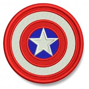 Captain America AUFNÄHER PATCH Kinder Superheld Hero D=7cm