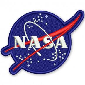 NASA Aufnäher 10x8cm hochwertig gestickt