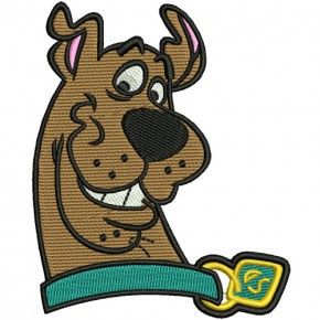 PATCH COMIC DOG SCOOBY DOO 6,5x8cm (2.5x3.1 inches) 100%embroidered